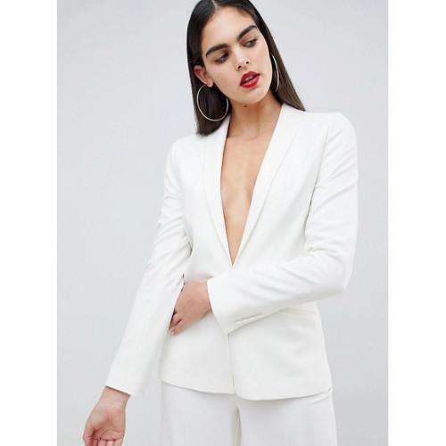 asos design - witte blazer • tall fashion